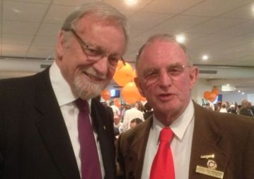 With Gareth Evans