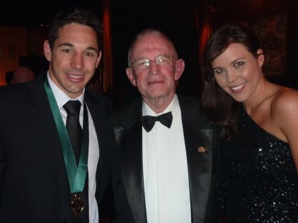 With Nicole and Billy Slater