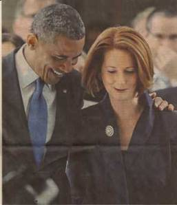 Prime Minister Julia Gillard with President Obama