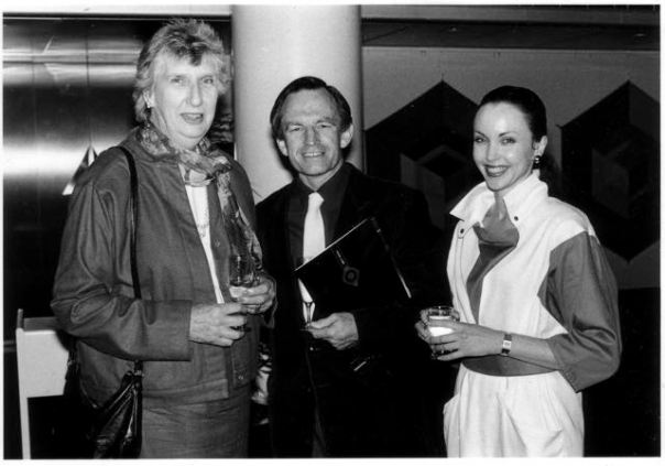 At the Pommery Champagne Cocktail party hosted by the Australian Ballet. From Left- Margaret Whitlam, Dally Messenger III, the ballerina Christine Walsh