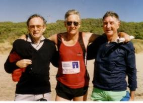 Wit Stan Jordan (centre) and Bill Hughes (right)